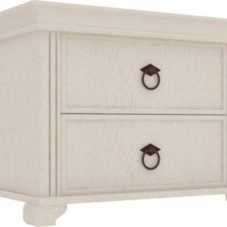 Lubidom Noční stolek Amelie 2 šuplíky - bílá provence