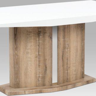 Autronic Jídelní stůl AT-2013 CAN - vysoký lesk bílý / Canyon Grey