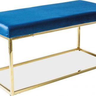 Casarredo Čalouněná lavice FENDI granátově modrá/zlatá