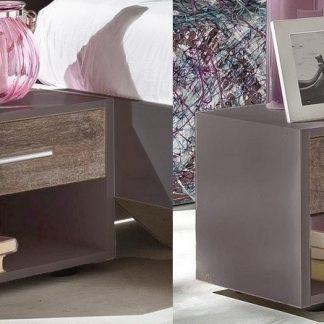 Casarredo Noční stolek ( 2 ks ) ILONA 698 grafit/dub bahenní
