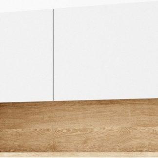 Casarredo Závěsná skříňka k předsíni 90 CLARO bílá/riviera