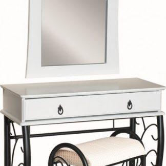 Casarredo Toaletní stolek 1102 se zrcadlem bílá/černá