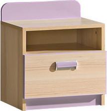Casarredo LIMO L12 noční stolek fialový