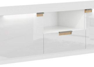 Tempo Kondela RTV stolek ARTEK AR63 - bílý lesk / bílá + kupón KONDELA10 na okamžitou slevu 3% (kupón uplatníte v košíku)
