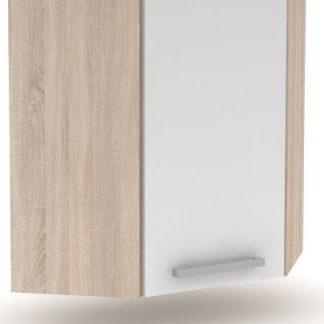 Tempo Kondela Horní skříňka roh 1DV NOPL-013-OH - dub sonoma / bílá + kupón KONDELA10 na okamžitou slevu 3% (kupón uplatníte v košíku)