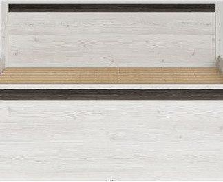 BRW Manželská postel Salins LOZ/160 - Modřín sibiu světlý