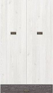 BRW Šatní skříň Namur SZF2D2S - modřín sibiu světlý/sentences šedá