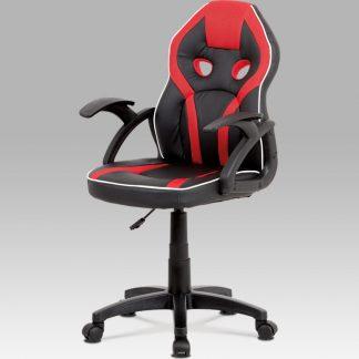 Autronic Dětská kancelářská židle KA-N664 RED