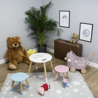 Forclaire Ourbaby dětský stůl kulatý s židlemi