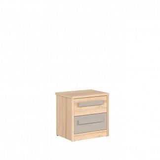 BRW Noční stolek Namek KOM2S - buk iconic/šedá