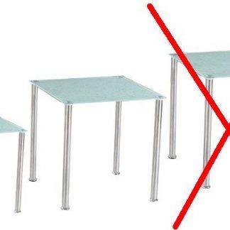 ATAN Sada 2 příručních stolků NESTOR - tvrzené sklo / ocel