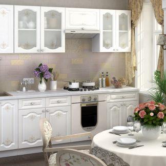 Casarredo Kuchyně CHARLIZE  bílá se vzorem