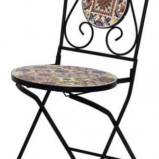 Autronic Židle kovová s mozaikou JF2218