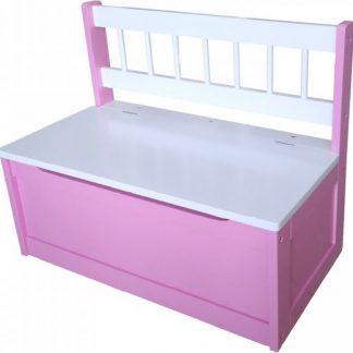 Idea Dětská lavice růžová/bílá