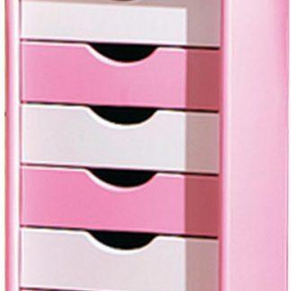 Idea PIERRE kontejner růžovo/bílý