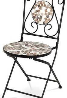 Autronic Židle kovová s mozaikou JF2207