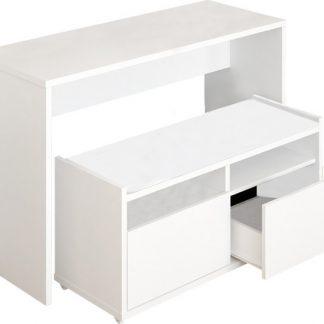 Tempo Kondela Víceúčelový stůl a lavice DELIMA - bílá + kupón KONDELA10 na okamžitou slevu 3% (kupón uplatníte v košíku)