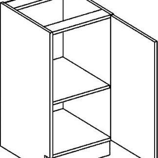 Casarredo DP dolní skříňka jednodvéřová PREMIUM de LUX olše