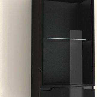 Tempo Kondela Závěsná vitrína ADONIS AS 08 - černá + kupón KONDELA10 na okamžitou slevu 3% (kupón uplatníte v košíku)